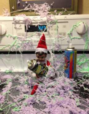 elf on the shelf mess